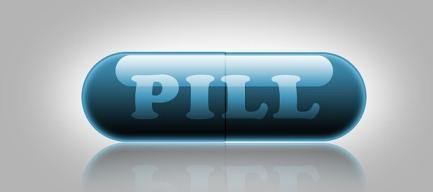 blue capsule pill