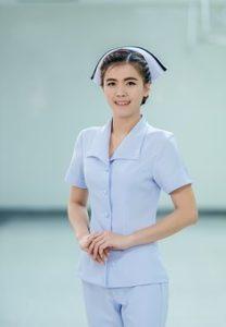 woman nurse posing