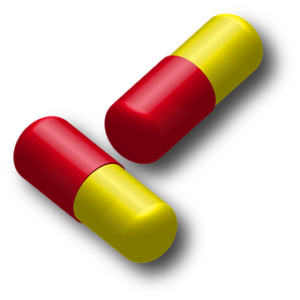 red and yellow capsule