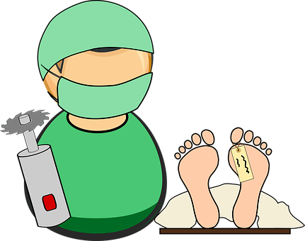 Doctor and feet graphic