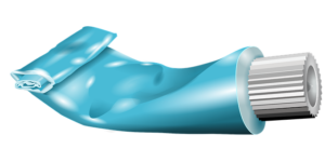 blue toothpaste graphic